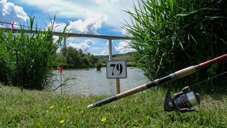 Horgászhely a horgászversenyen