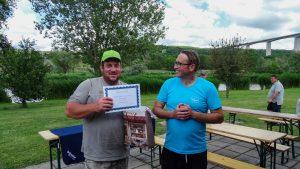 A Völgyhídi Horgásztó horgászversenyen Felnőtt kategóriàban legnagyobb hal kategóriàban 1. helyezett Tóth Norbert lett 5 kg-al.