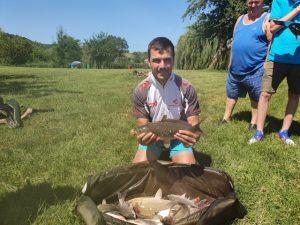 Horgászverseny győztes Völgyhídi Horgásztó 2020 július