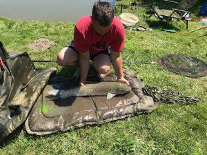 A horgászversenyen mindenki elégedett volt a tóval és a halállománnyal