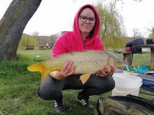 A horgászvíz pontyokban gazdag